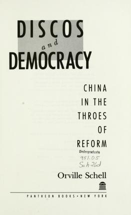 Cover of: Discos and democracy | Orville Schell